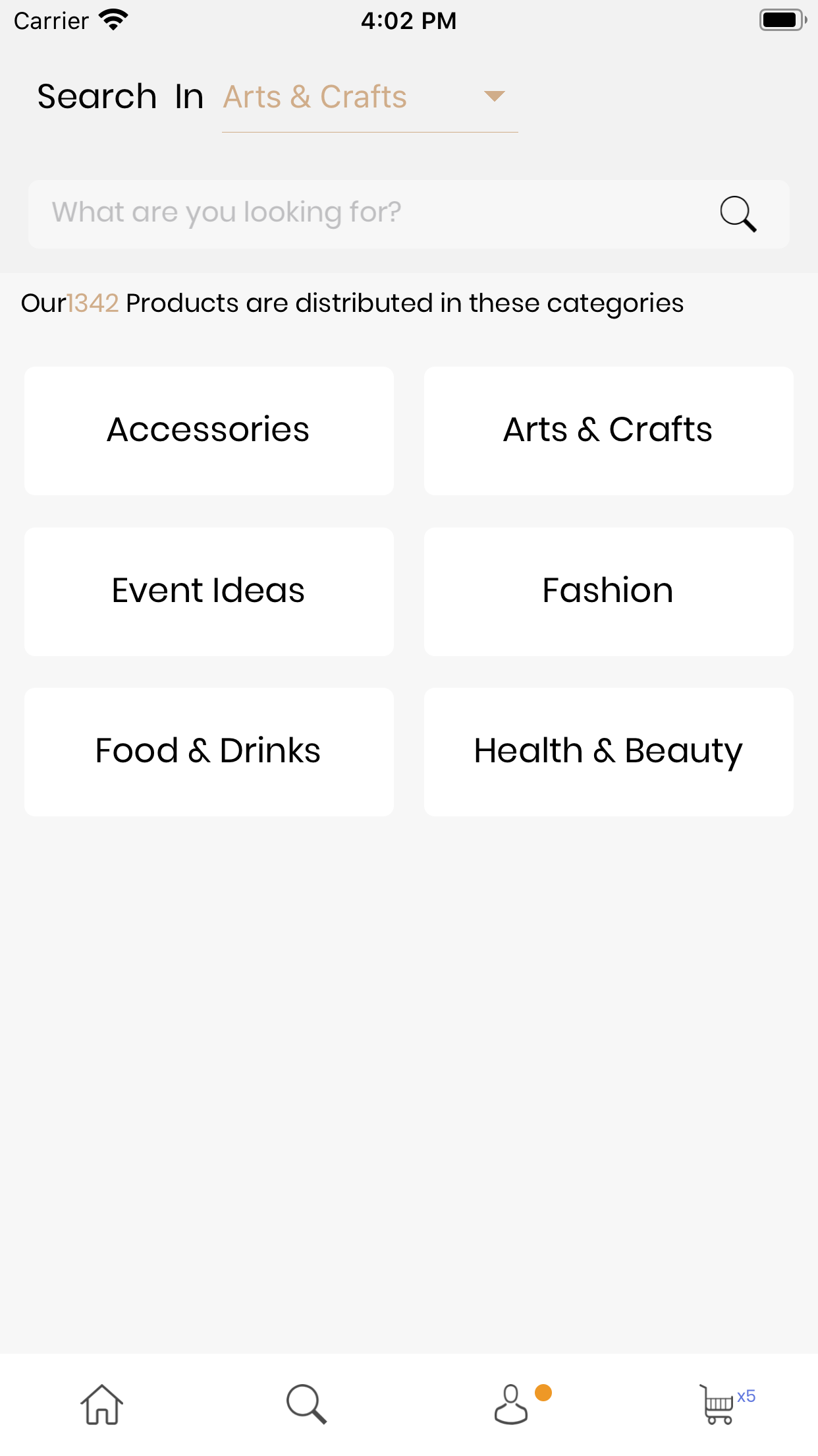 React Native E-Commero UI Theme